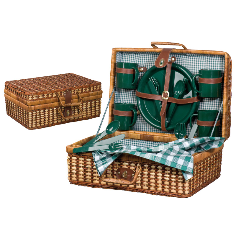 Rattan picnic<br> basket &quot;South<br>Carolina&quot;