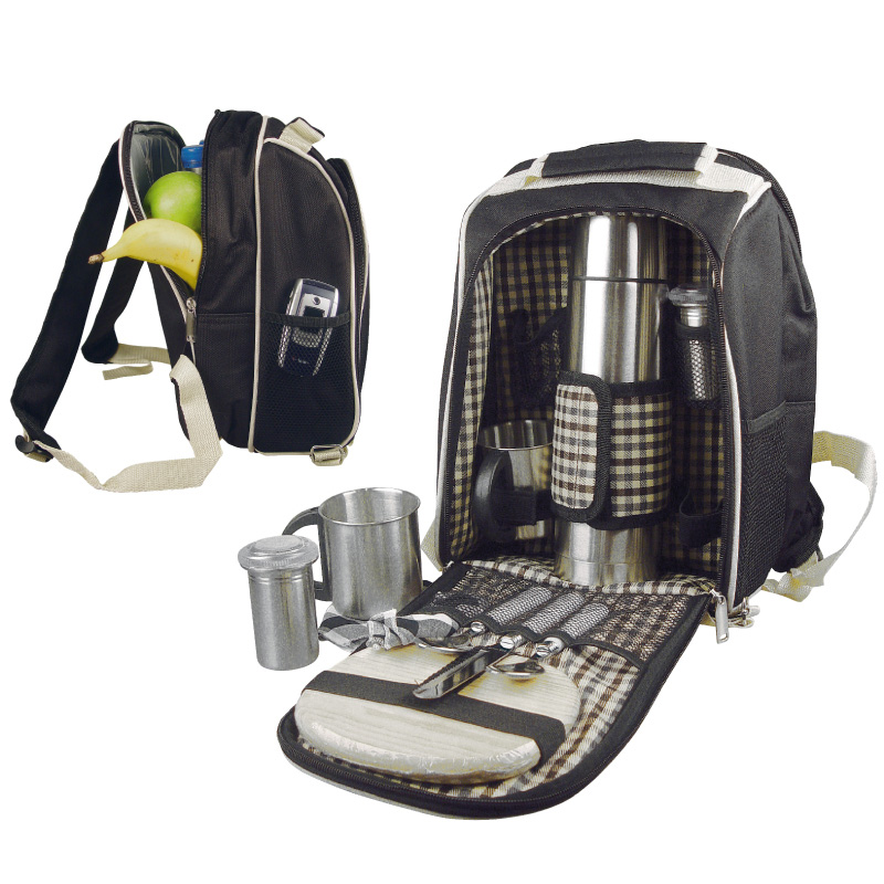 Luxury picnic<br> backpack with<br> cooler bag ...